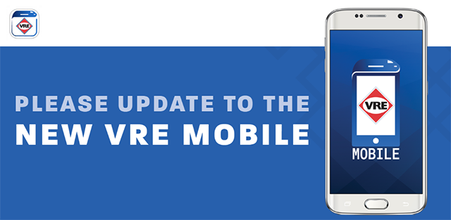 Please update to the new VRE Mobile
