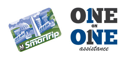 Image of a SmartTrip card. One on One assistance